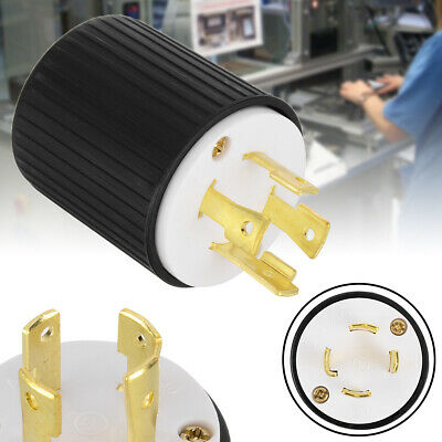 L14-30P Locking Male Plug 30A 125/250Volt -UL Approved Industrial Plugs Adapter