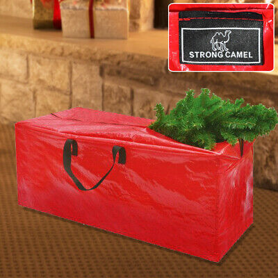 Heavy Duty Large Christmas Tree Storage Carry Bag Clean Up Holiday Red 5 to 9ft