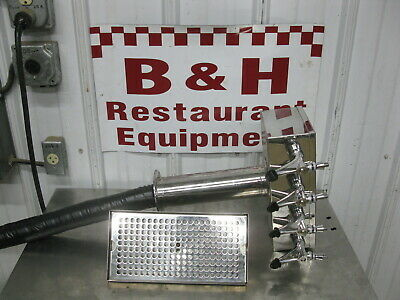 Micro Matic Stainless Steel 4 Tap Handle Keg Draft Beer Bar Pub Tower D7744PSS