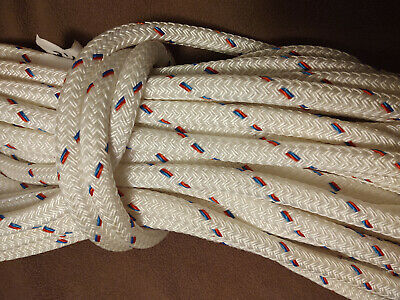 "65' of 9/16"" Amsteel II Plus Coated Clear Dyneema Core Samson Rope Dual Braid"
