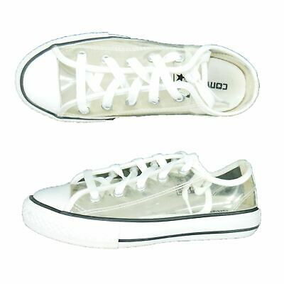 Converse Girls Size 1 All Star Low Top Sneakers Clear Transparent See-Through