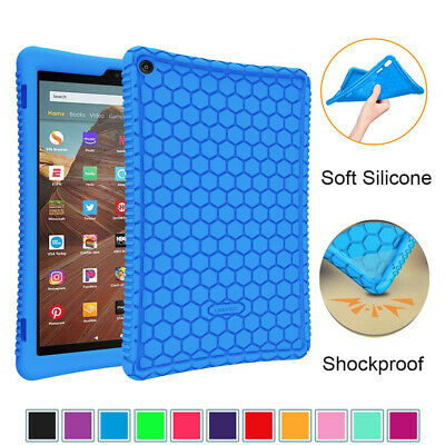 For All-New Amazon Fire HD 10 9th Gen 2019 Silicone Case Shockproof Back Cover