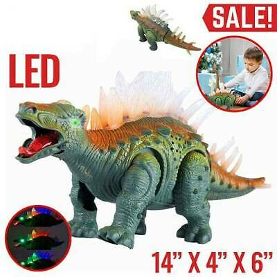 Walking Dinosaur Spinosaurus Light Up Kids LED Toy Figure Sounds Real Movement