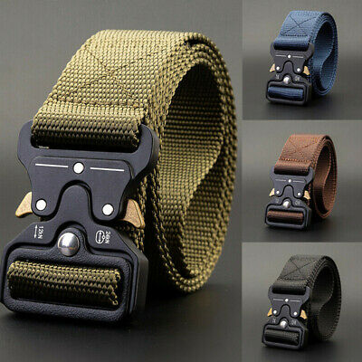 Men Adjustable Military Belt Buckle Combat Waistband Tactical Rescue Rigger Soft