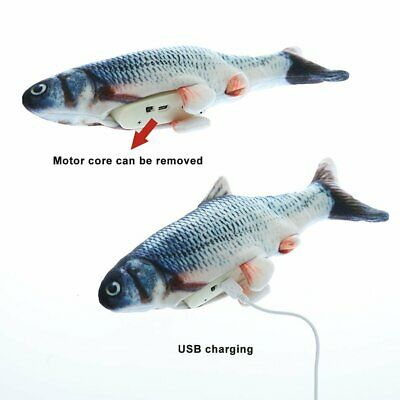 Electric Cat Stuffed Toy Wagging Fish Realistic Plush Simulation Fish Catnipmin