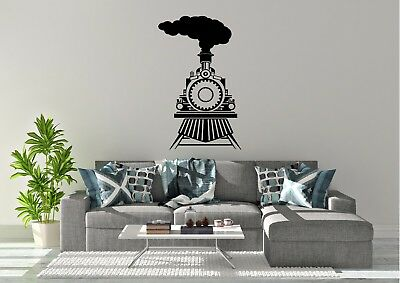 Wall Stickers Stream Train Tracks Scenic View Nature Decal Poster 3D Art A113