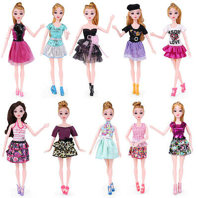 5/10 Set Dolls Dresses Party Gown Outfits Girls Gift For Barbie Doll Clothes