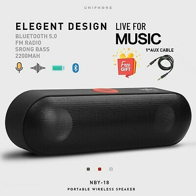 Strong Bass Wireless Speaker Bluetooth Portable HIFI Surround Stereo Subwoofer