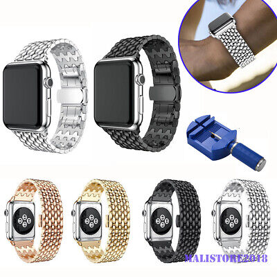 For Apple Watch Series 5/4/3/2/1 Stainless Steel Wrist iWatch Band Strap 38/42mm