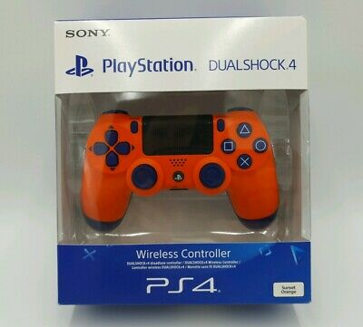 Official Sony PlayStation 4 Sunset Orange DualShock Wireless Controller  PS4 NEW