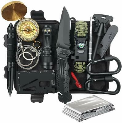 Outdoor Survival Kit 14 in 1 Tactical Emergency SOS EDC Self Defense Tools Gift