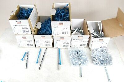 "Simpson 1/4"" masonry screws and wedge anchor LOT of 700 pcs NEW with bits"
