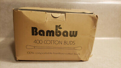 Bambaw Cotton Buds Eco Cotton Buds Wooden Cotton Bud 281pc - NEW OPEN BOX