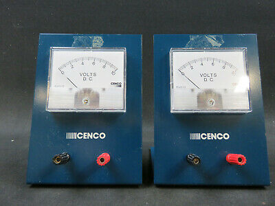 Cenco D.C. Voltmeter single range 0-10V 82410-02 lot of 2