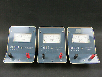 Cenco D.C. Voltmeter single range 0-10V 82420-03 lot of 3