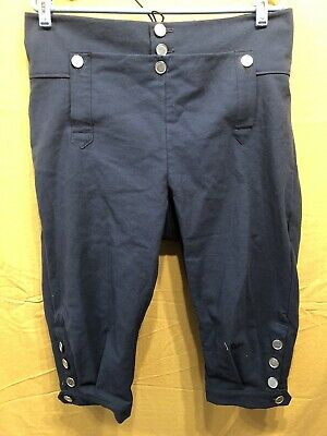 Knee Breeches, Size 34 Dark Blue - Rendezvous, Mountain Man, Colonial, Pirate