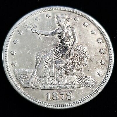 1878 S US United States $1 One Silver Trade Dollar Nice Collector Coin 9TD7851