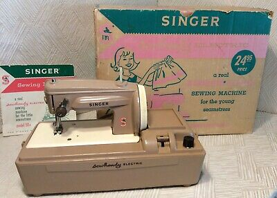Singer Sewhandy Electric Model50 Sewing Machine Original Box Vintage 1960s NICE