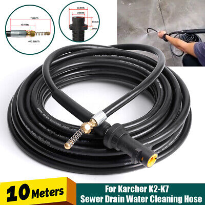 10M Drain Sewer Pipe Cleaning Hose Nozzle For Karcher K2-K7 High Pressure
