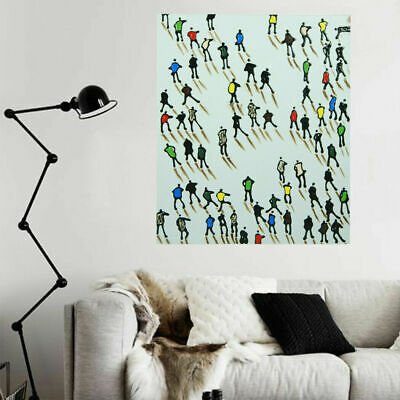 Hand Painted Oil Painting Framed Canvas Modern Art Wall Home Decor Skating