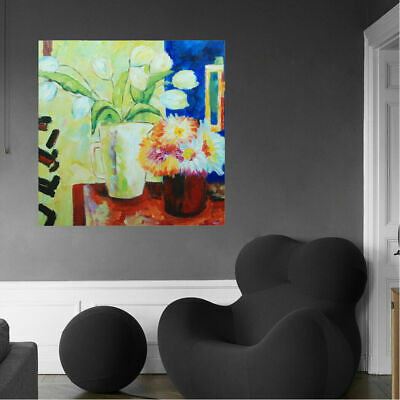 Impression Hand Painted Art Canvas Oil Painting Home Decor Framed - Flowers