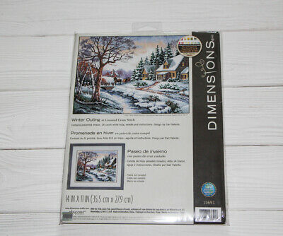 Dimensions Winter Outing Counted Cross Stitch Kit 13691 Design by Carl Valente