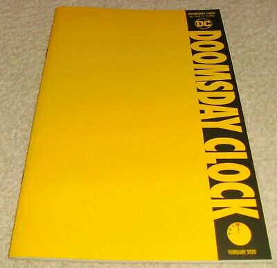 Dc Comics Doomsday Clock # 12 Vf+/Nm Blank Yellow Variant