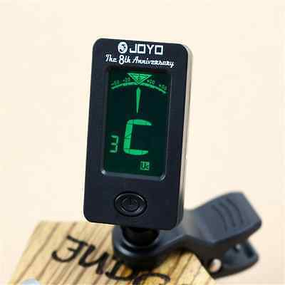 LCD Clip on Electronic Digital Guitar Tuner For Chromatic Bass Violin Ukulele UK