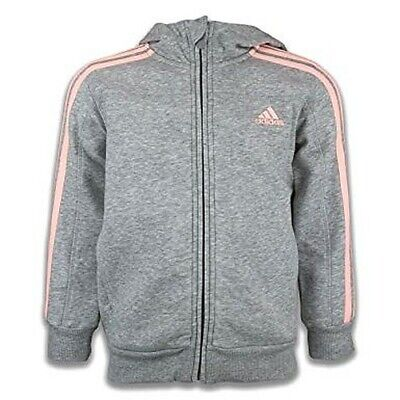 ADIDAS girls kids childs hoodie sweatshirt jacket top 18-24 months grey full zip