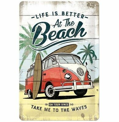 Tin Sign: Life Is Better At The Beach