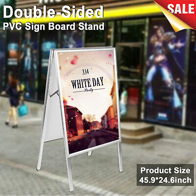 Aluminum Alloy A-Frame Double Sided Menu Restaurant Sign Sidewalk Sandwich Board