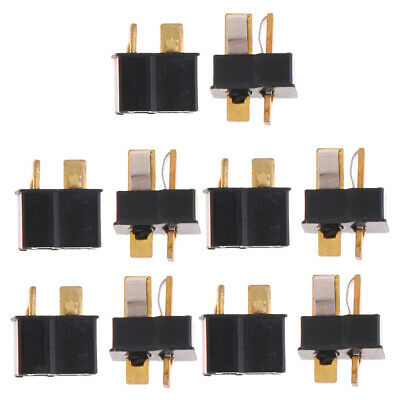 5 Pairs Ultra T Plug Male and Female Connectors Aadaptor for Deans RC Parts