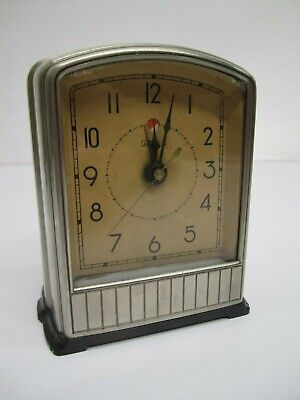 Vtg c1920s Warren Telechron Lighted Electric Alarm Clock Telalarm #715 Art Deco