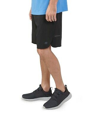 Russell Mens Woven Performance Shorts Casual Elastic Waist with Drawstring