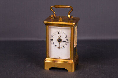 Old Brass Travel Watch, Alarm Clock 19. Century