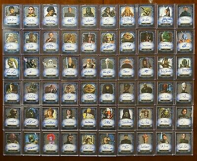 2016 Topps Star Wars Masterwork Auto Autograph Base Lot of 60 Different