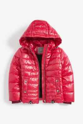 BNWT NEXT Girls Red Padded School Coat Jacket 4-5-6-7-8-9-10 Years RRP £32 / £34