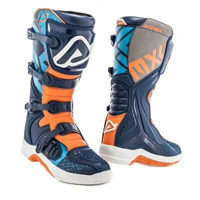Acerbis Motocross-Stiefel X-Team Blau/Orange