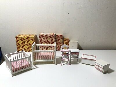 Town Square Miniatures Doll House 5-Pc Baby Bedroom Set