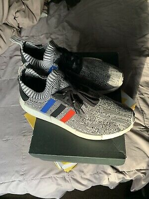 ADIDAS NMD R1 PK Tri Color Primeknit Size 10 Pre Owned