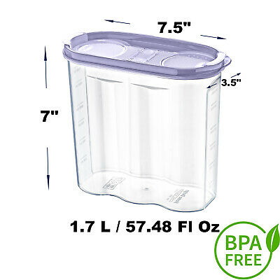 4 x Cereal Food Storage Container - BPA FREE  1.7L / 57.48 FL OZ