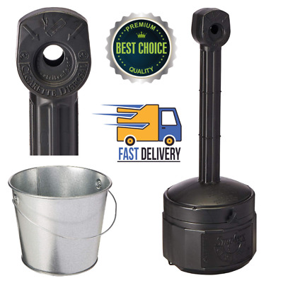 """Smokers Cease 30"""" Height Outdoor Fire Cigarette Butt Receptacle 1 Gallon"""