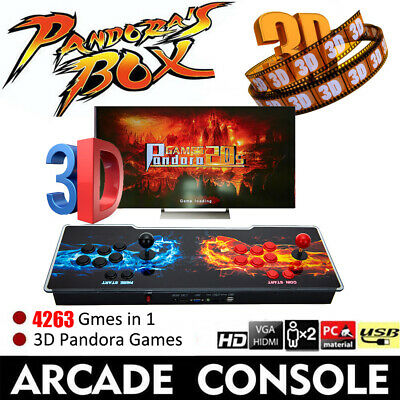 Pandora's Box 12 3188 in 1 Video Gaming 2Player Arcade Console LCD 3D HD US Plug