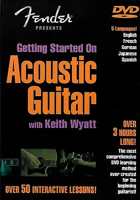 Getting Started with Acoustic Guitar DVD Fender / Keith Wyatt / 50 Lessons Learn