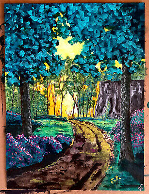 9x12 surreal abstract acrylic painting Canadian Nefoundland native artist