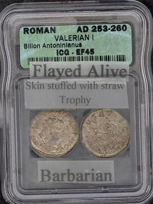 Valerian I Roman Empire (Ad  253 - 260) Icg Ef 45  Please Lqqk!!!!!!!!!!!!!