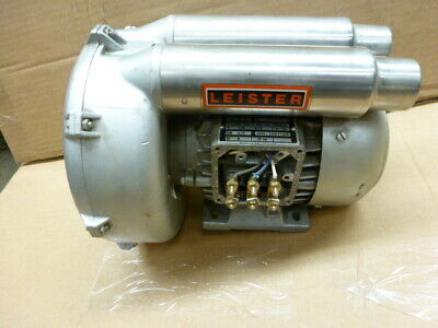 Used Leister Regenerative Blower .25KW (1/3 HP) 3 Phase 220-254 380-440 Volts