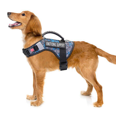 ESA Harness for Medium Large Dog Emotional Support Animal Service Vest&2 Patches