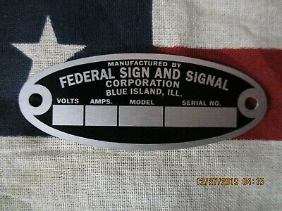 Federal Sign and Signal Replacement Badge Model 18 Solar Ray & 19 Propello Ray