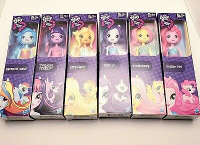 "My Little Pony Equestria Girls 9"" Dolls Complete Set NEW Lot of 6- Rainbow Dash"